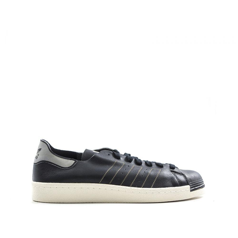 lowest price 7a93e 9864f ADIDAS SUPERSTAR 80S DECON Sneaker uomo nera in pelle