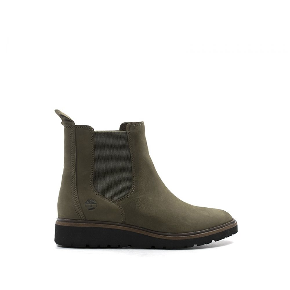 TIMBERLAND Tronchetto donna verde in pelle