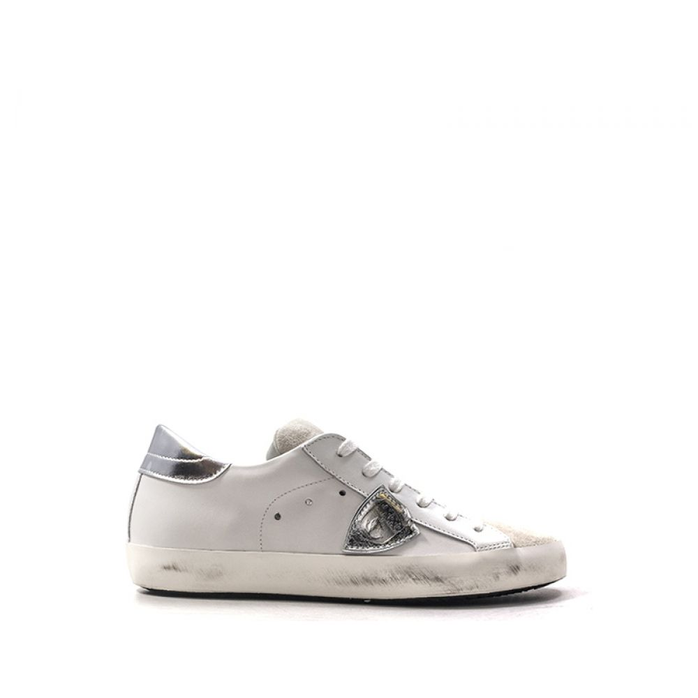 d2bf05e24a PHILIPPE MODEL PARIS Sneaker donna bianca/argento pelle ...