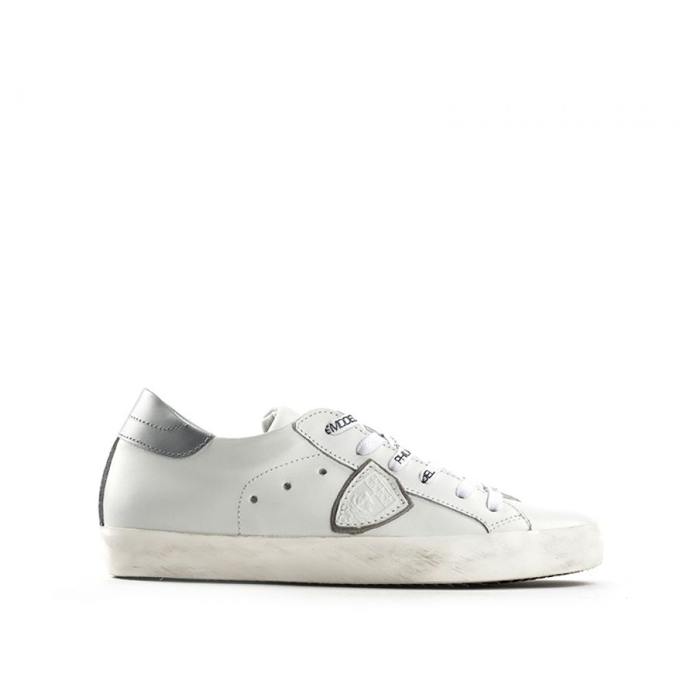 PHILIPPE MODEL CLASSIC LOW Sneaker donna bianca in pelle 6783f9d2016