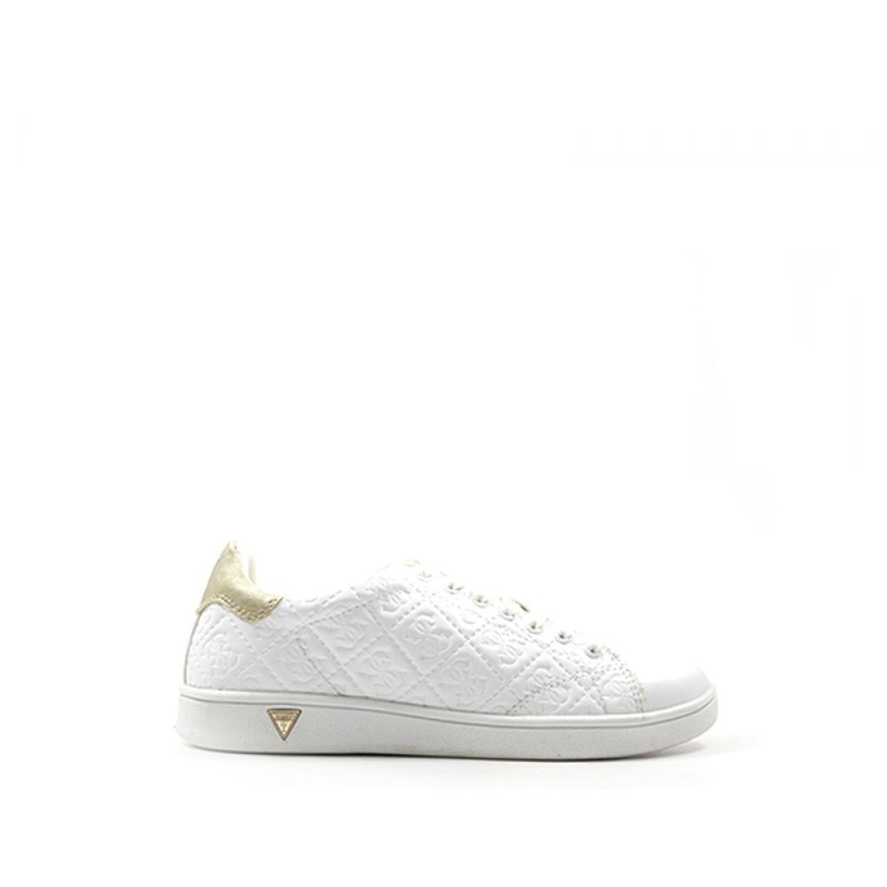 7a918baba4 GUESS Sneaker donna bianca/oro