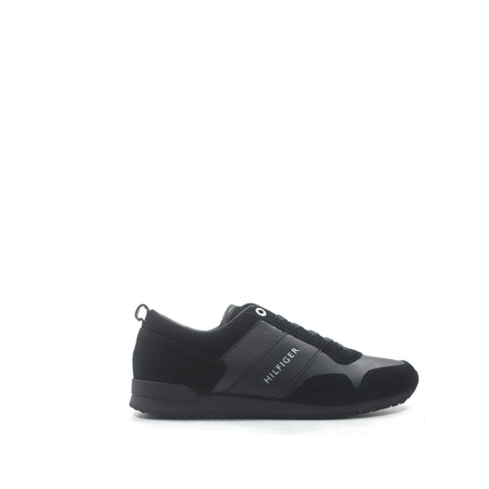 info for 0f0b4 8dc46 TOMMY HILFIGER Sneaker uomo nera in suede