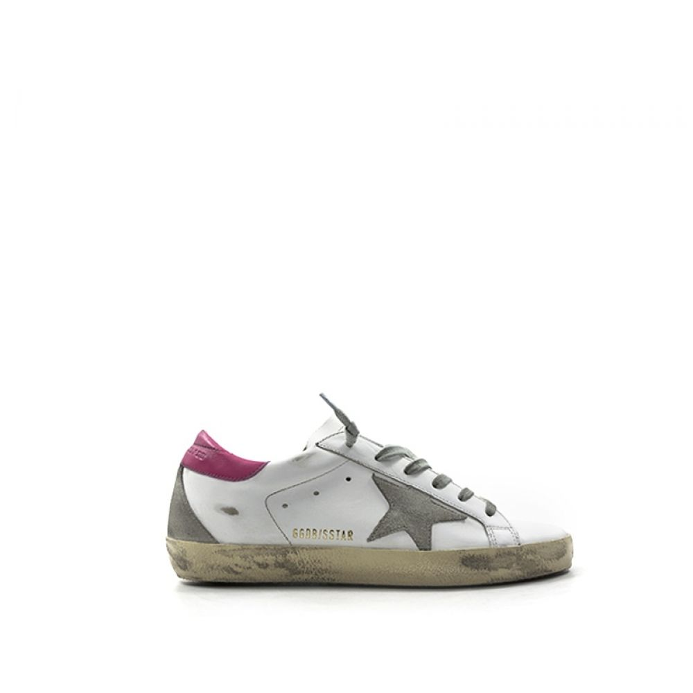 pretty nice caf90 3364b GOLDEN GOOSE SUPERSTAR Sneaker donna bianca/rosa in pelle