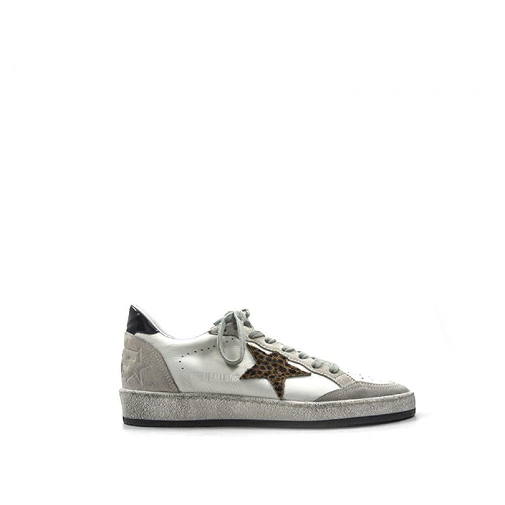 GOLDEN GOOSE BALL STAR Sneaker donna bianca in pelle 58df59246e2