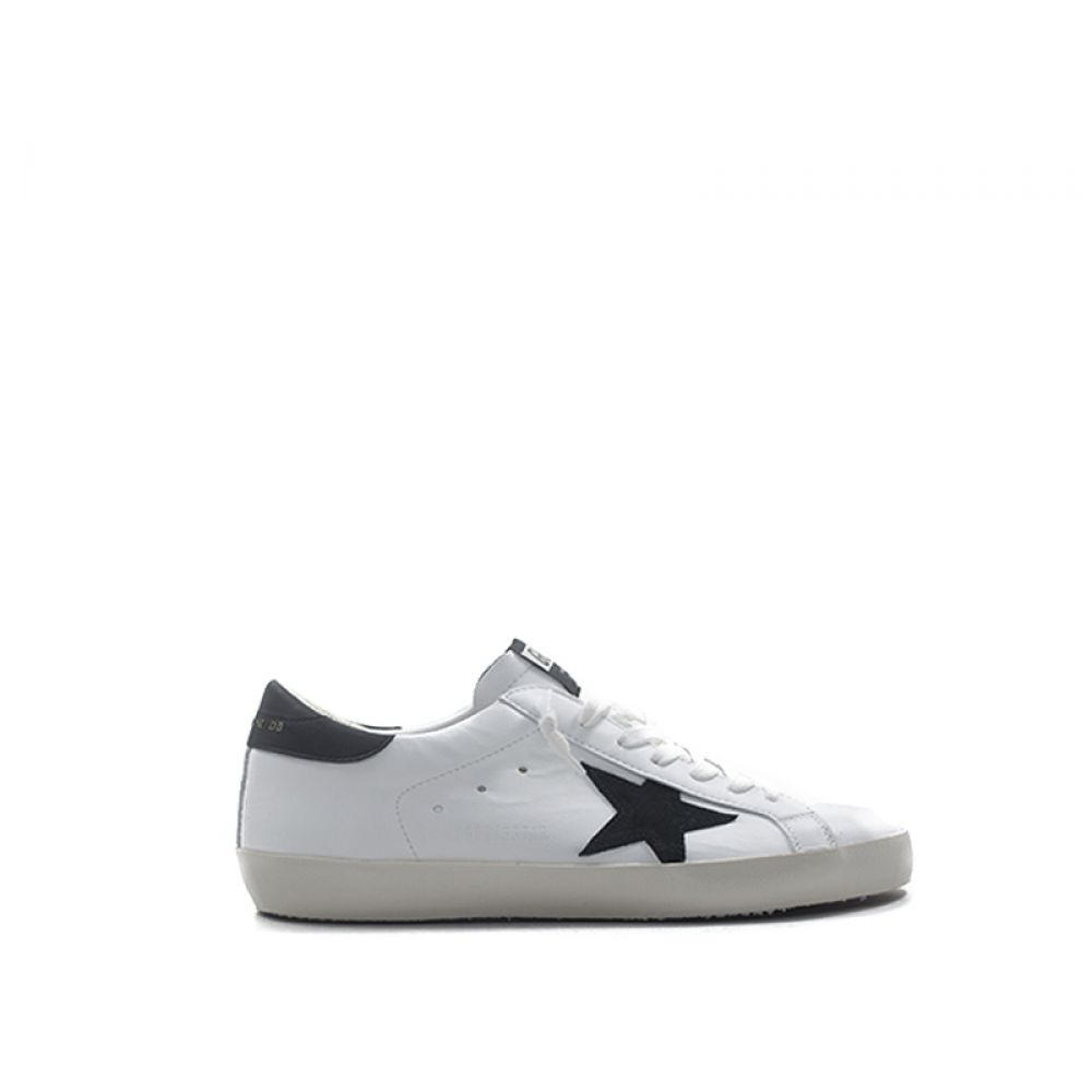 new product cee03 a874e GOLDEN GOOSE SUPERSTAR Sneaker uomo bianca/nera in pelle