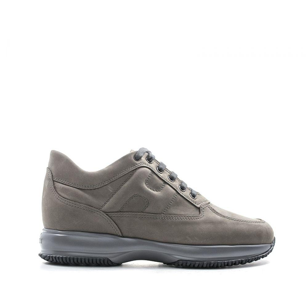HOGAN INTERACTIVE Sneaker uomo grigia in nabuk