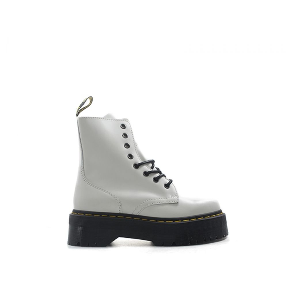 DR. MARTENS Anfibio donna bianco in pelle