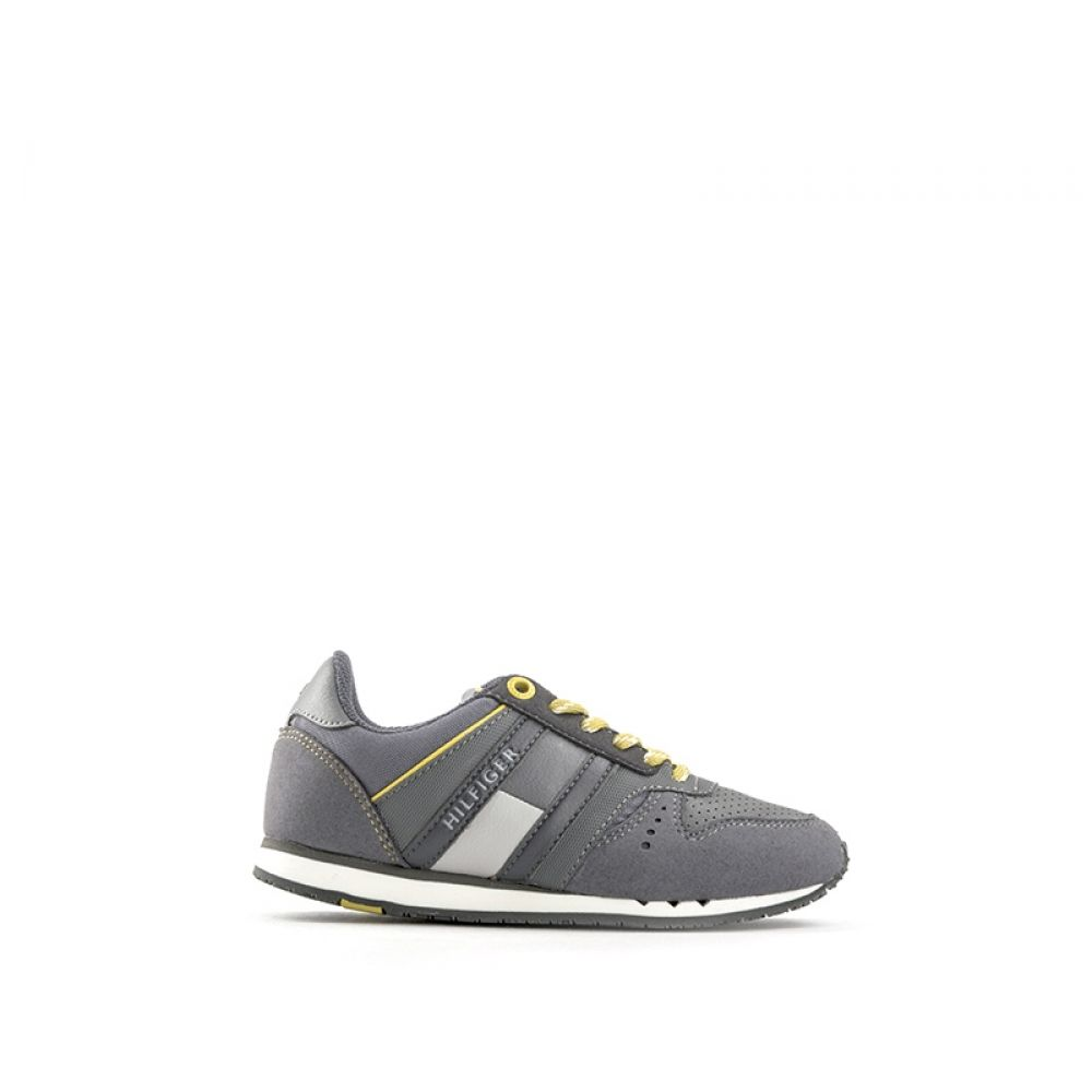 reputable site 852c8 04309 TOMMY HILFIGER Sneaker bambino grigia in suede e tessuto