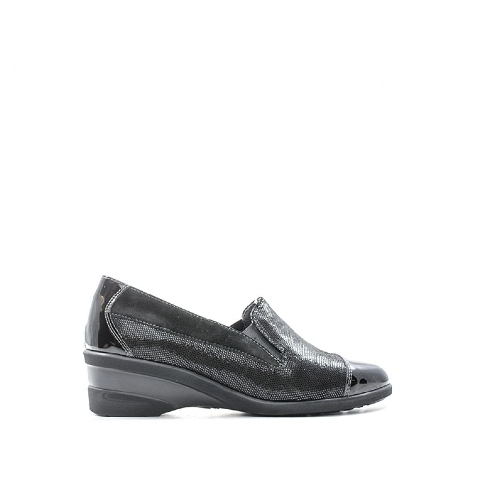 MELLUSO Slip on donna nera in pelle