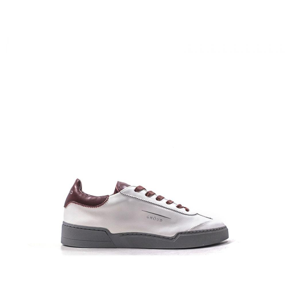 GHOUD Sneaker trendy uomo biancabordeaux in pelle