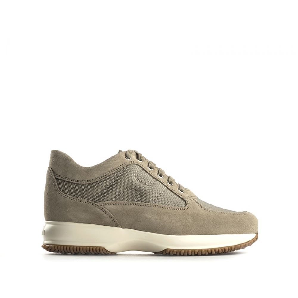 HOGAN INTERACTIVE Sneaker uomo beige in suede e tessuto 15d7c57d1f5