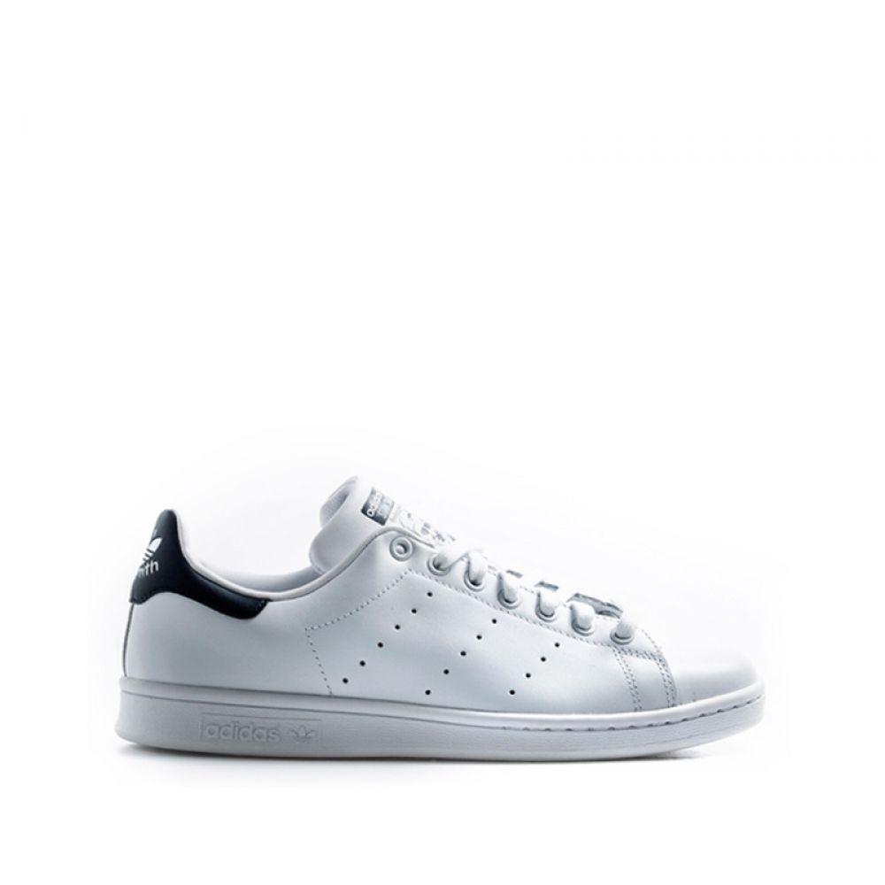 low priced 6c7ab f6989 ADIDAS STAN SMITH Sneaker uomo bianca blu in pelle