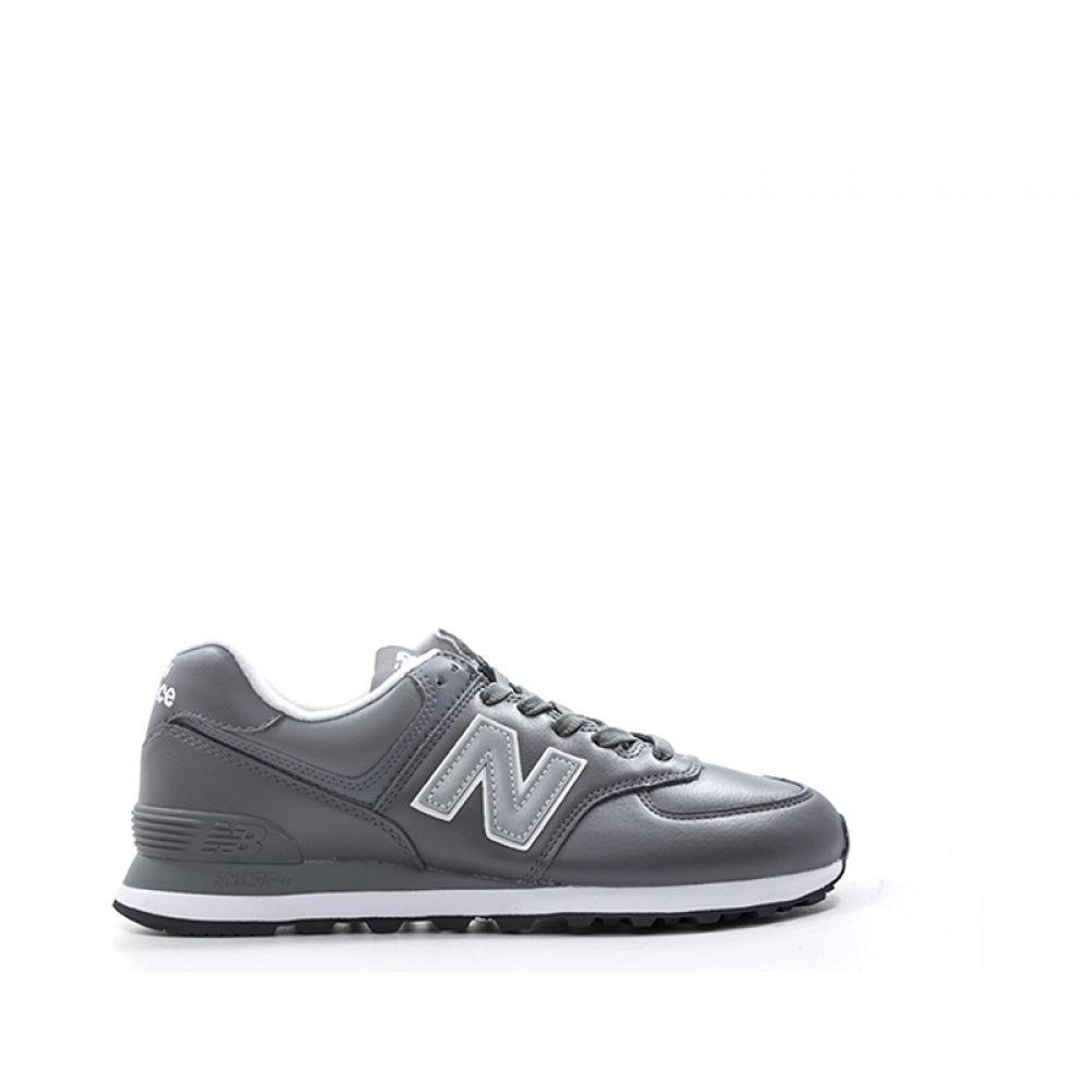 new balance uomo pelle grigio