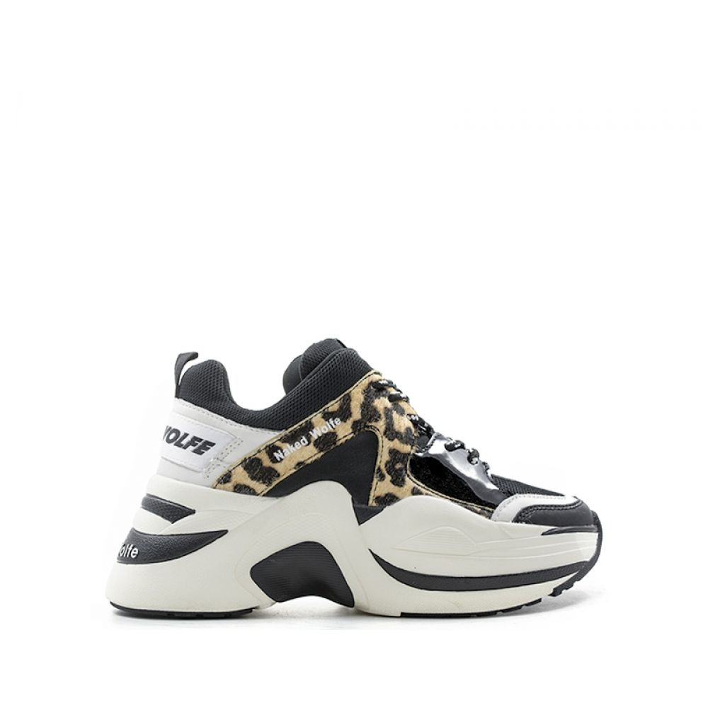 NAKED WOLFE Sneaker donna nera maculata in pelle 3655059d2db