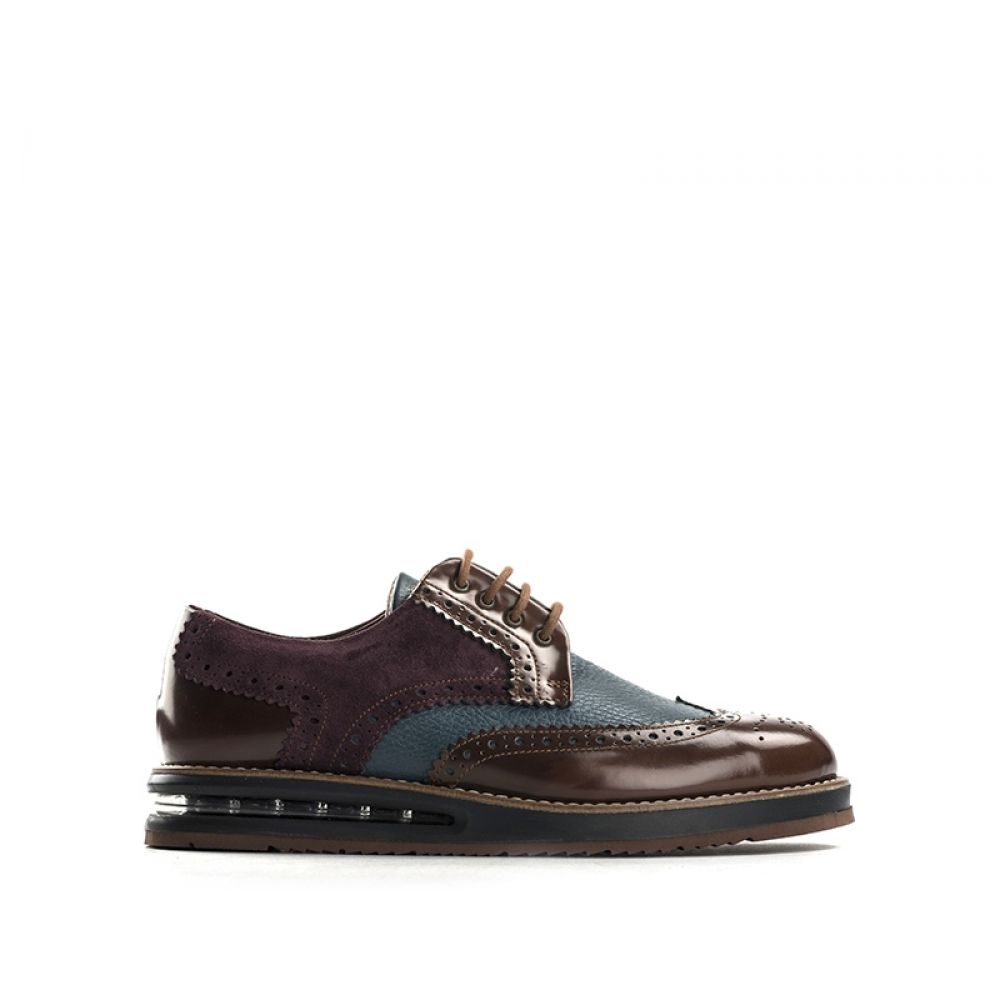 BARLEYCORN Stringata uomo marrone in pelle brogue