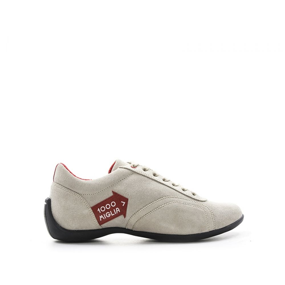 MILLE MIGLIA Sneakers uomo panna in suede