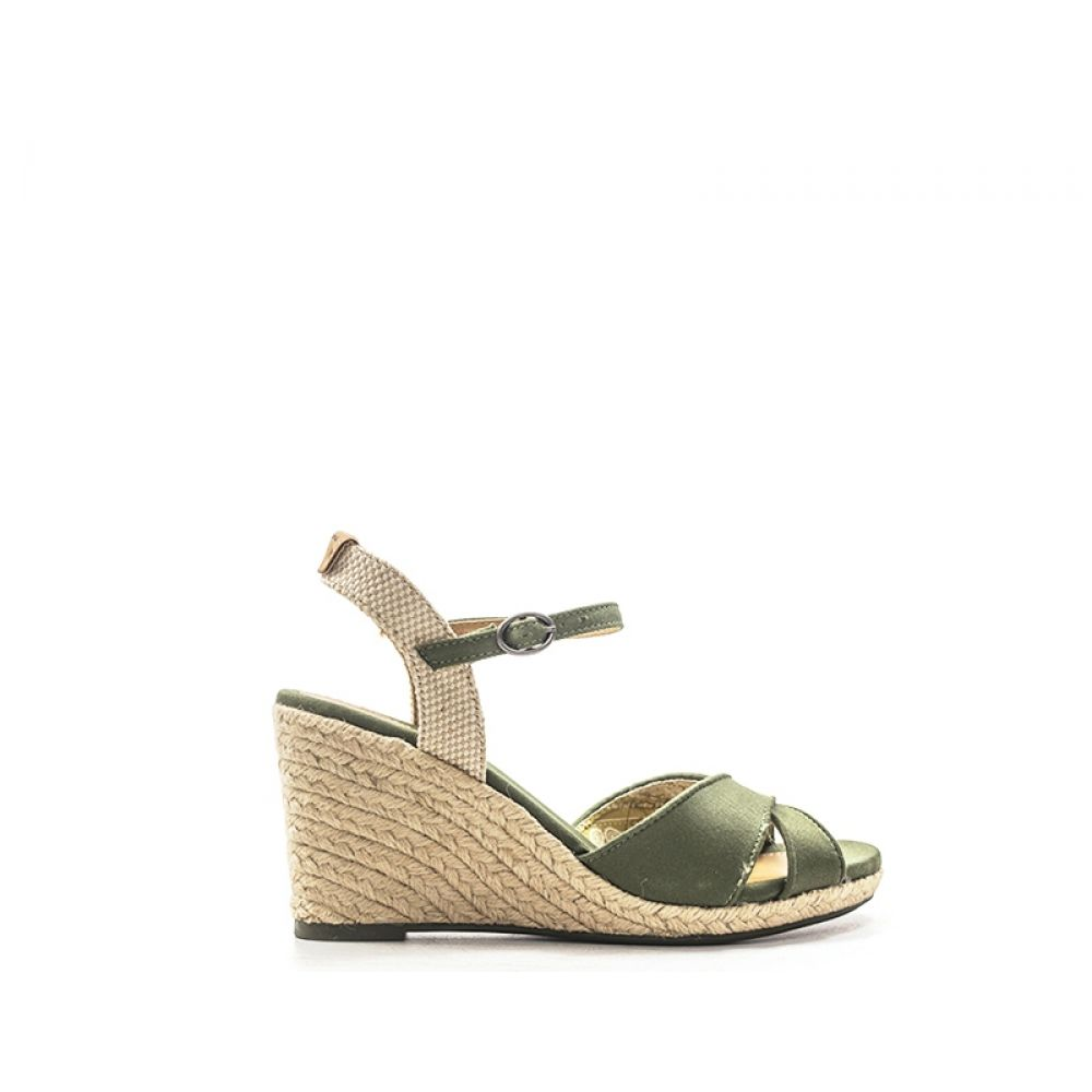 los angeles 1fa03 a36bf PEPE JEANS Zeppa donna verde in tessuto