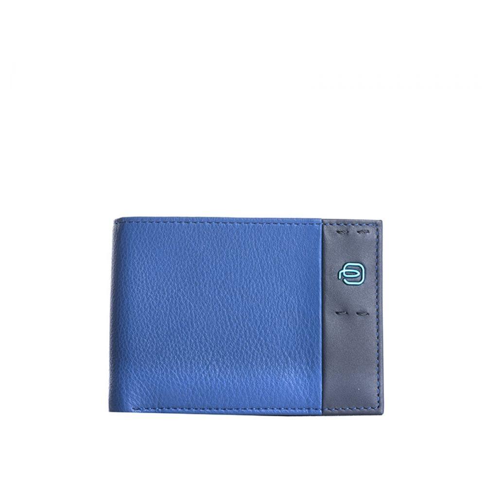 wholesale dealer 3cf95 fe24c PIQUADRO Portafoglio blu elettrico uomo in pelle