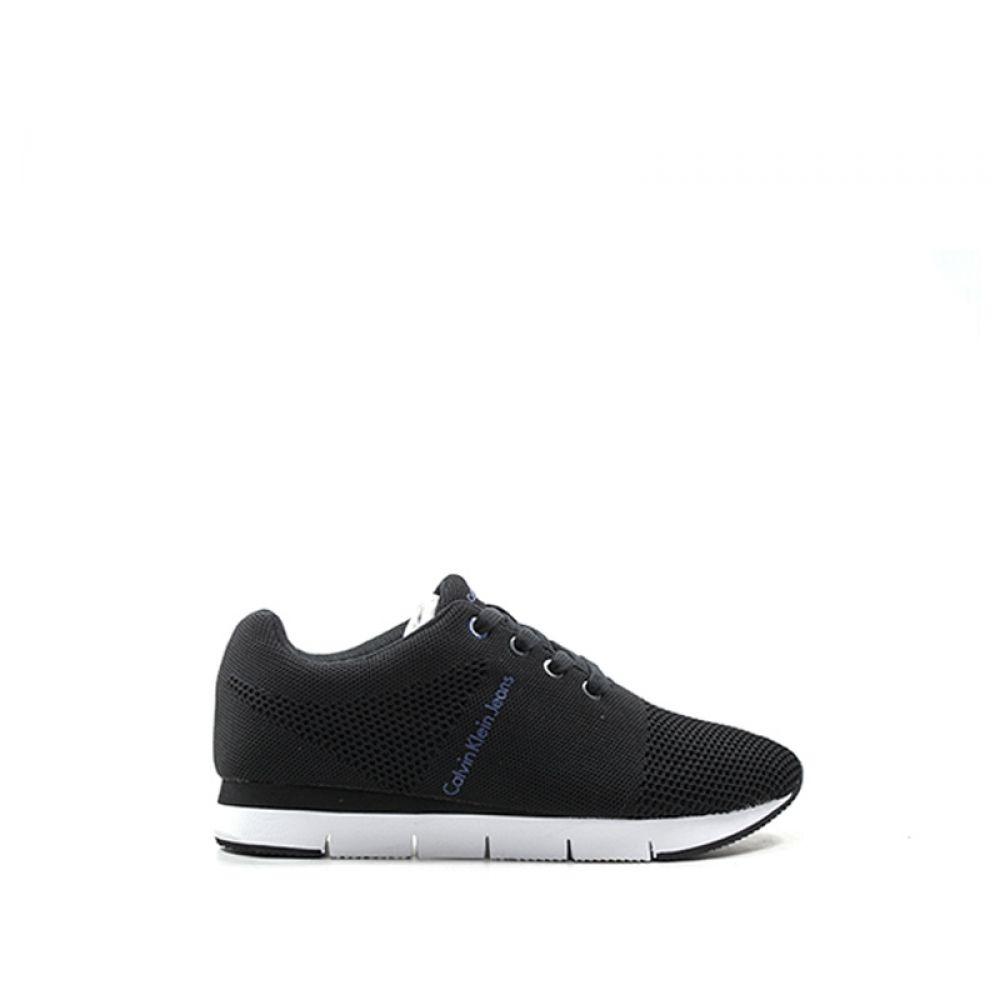 best website 645b9 87587 CALVIN KLEIN JEANS Sneaker donna nera in tessuto