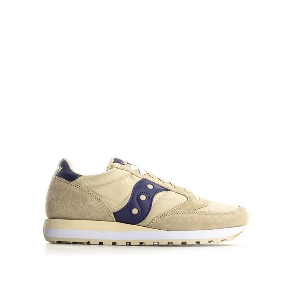SAUCONY JAZZ ORIGINAL Sneaker uomo beigeviola suede nylon