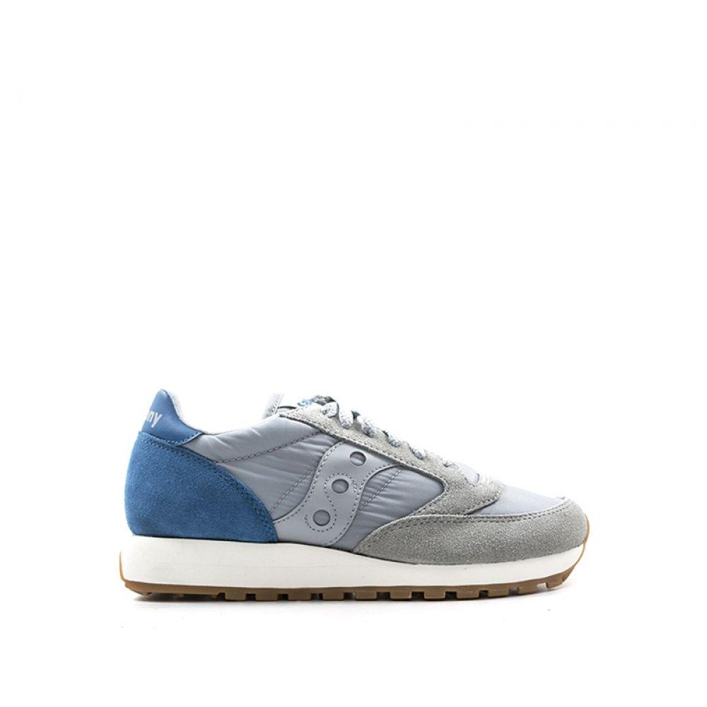 SAUCONY JAZZ ORIGINAL Sneaker donna grigia blu tessuto ... 5975cb41095