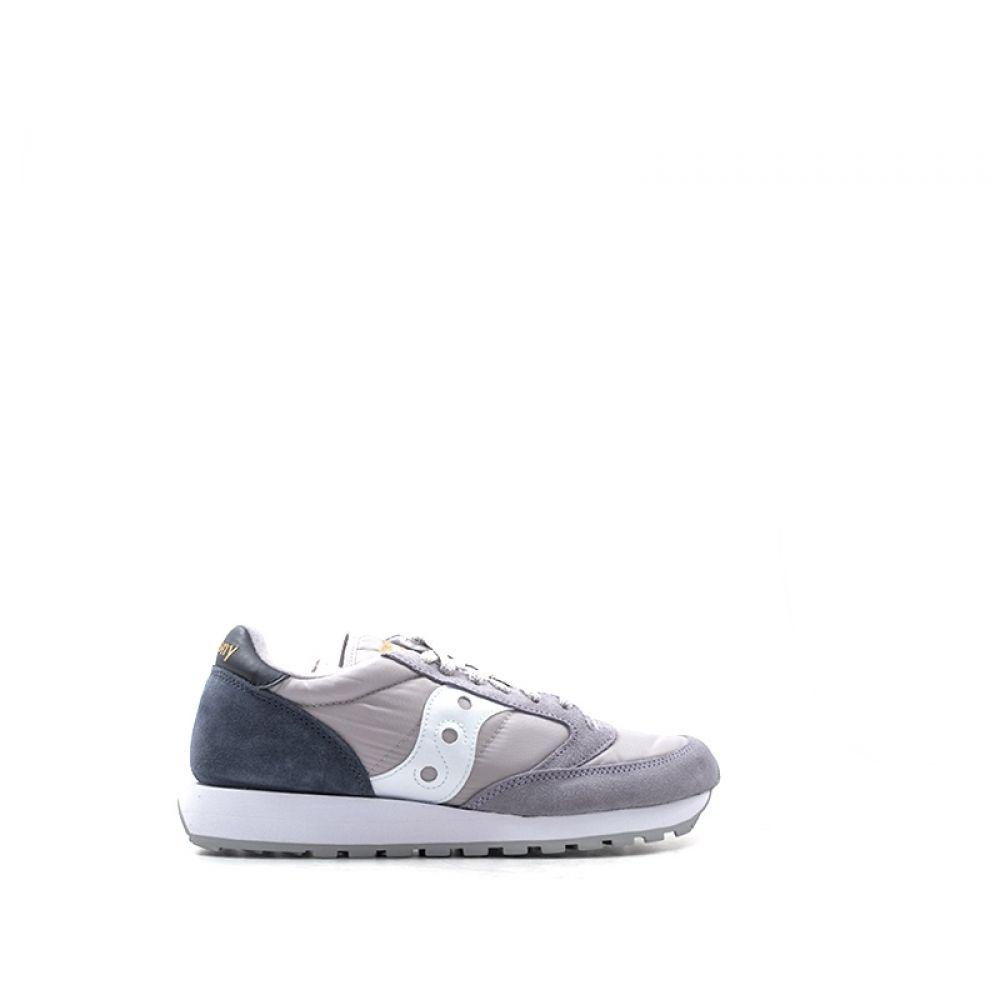 SAUCONY JAZZ ORIGINAL Sneaker uomo grigia blu in suede d78684ccd04