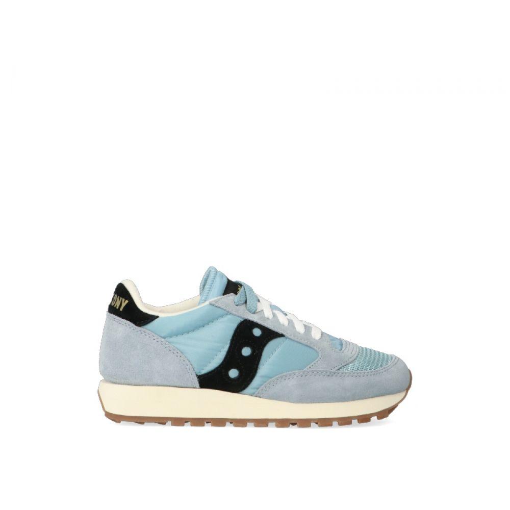 SAUCONY JAZZ ORIGINAL Sneaker donna azzurra in suedetessuto