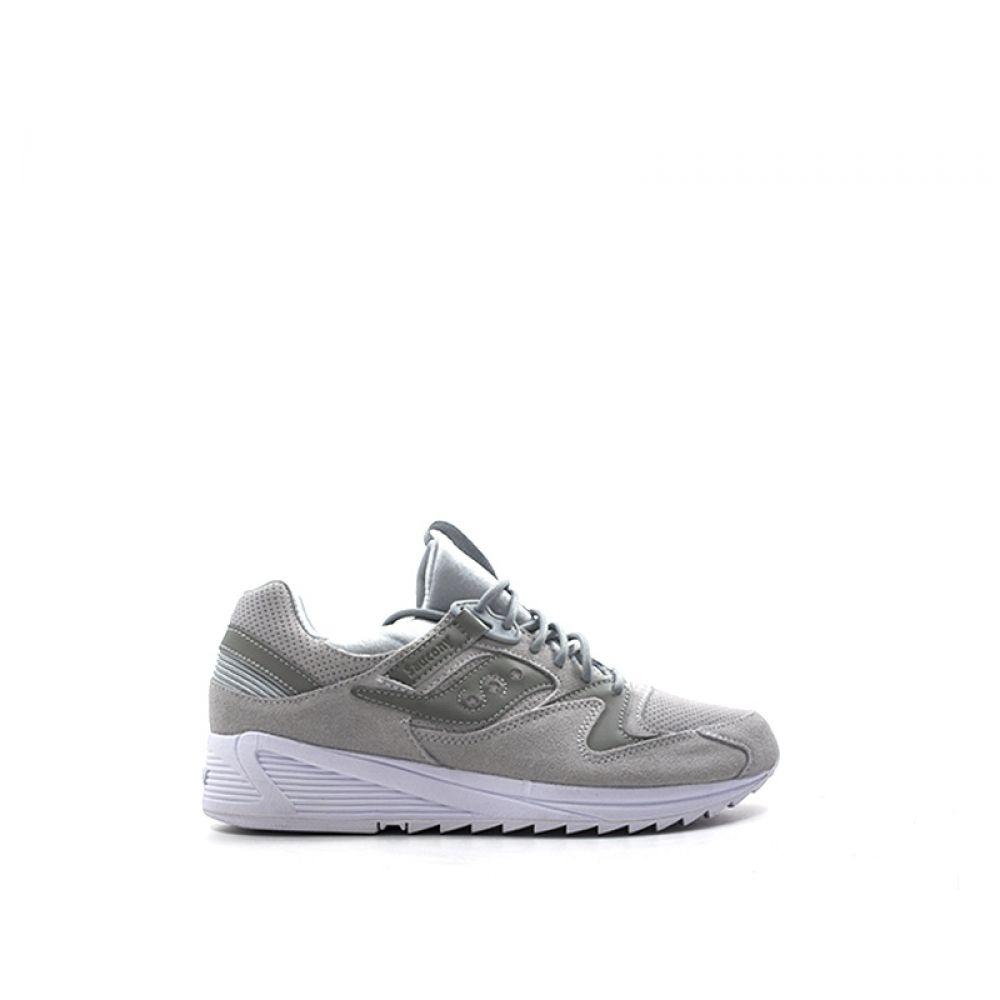SAUCONY GRID 8500 Sneaker uomo grigia in nabuk