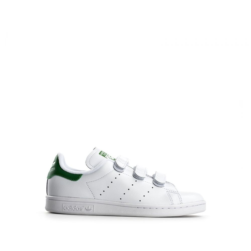 new product 801e6 6c0b7 ADIDAS STAN SMITH Sneaker donna bianca in pelle strappi