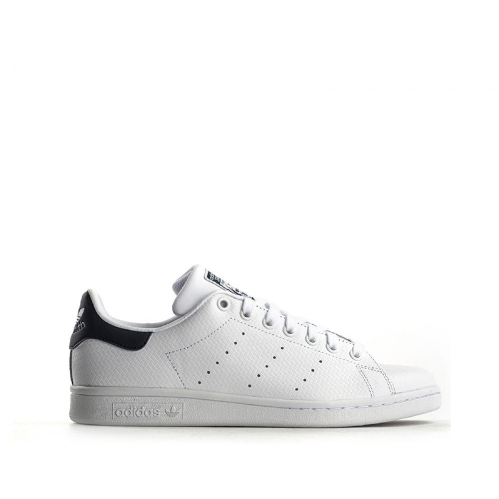 free shipping 5ef2a 4b249 ADIDAS STAN SMITH Sneaker uomo bianca in pelle intrecciata