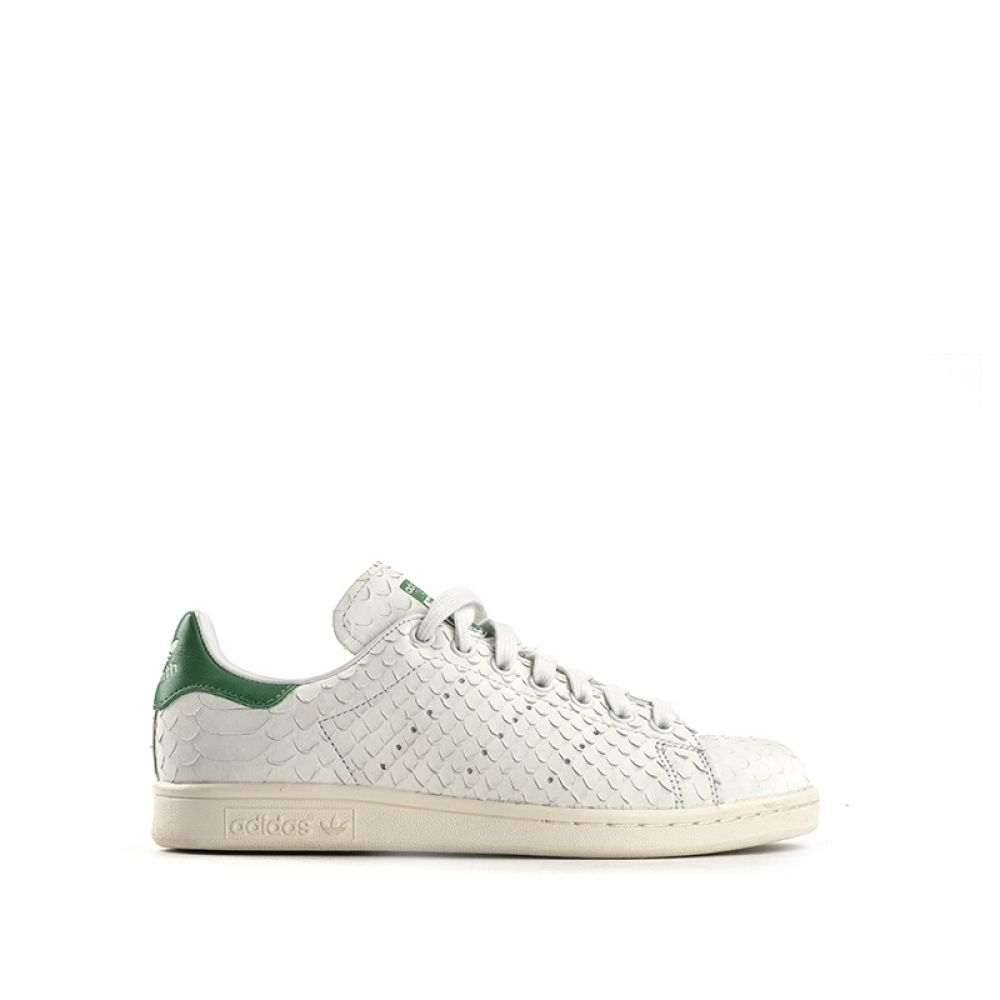 ADIDAS STAN SMITH Sneaker donna bianca in pelle squame