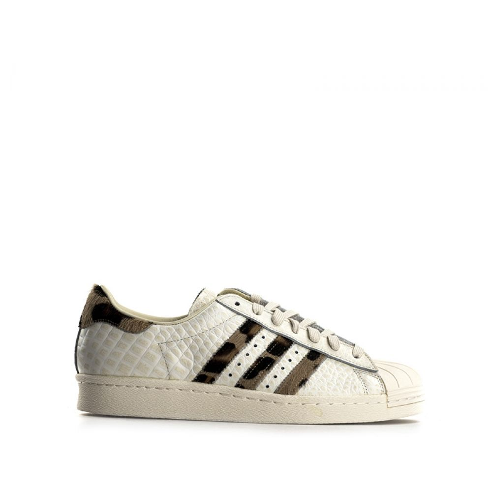 wholesale dealer 582ac 0b9ab ADIDAS SUPERSTAR Sneaker uomo bianca in pelle cavallino