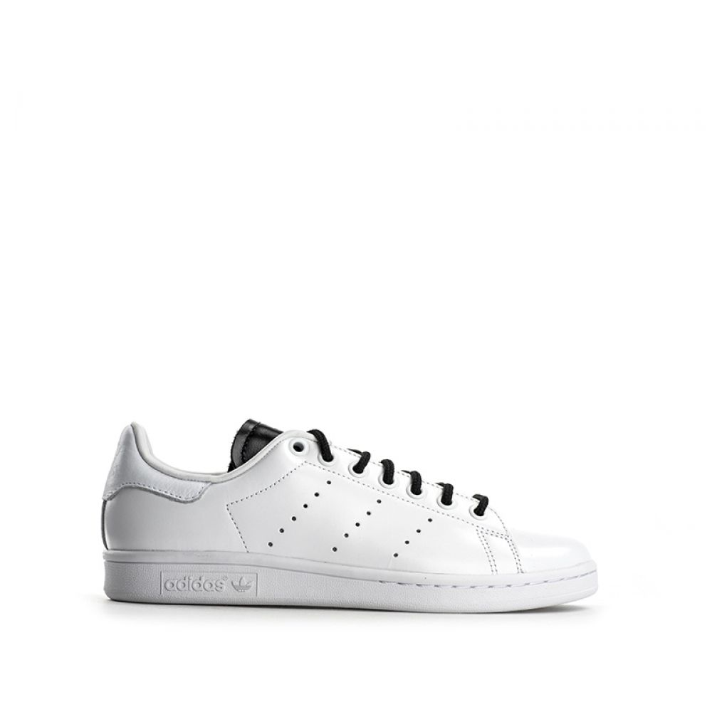 new product 4447e b856d ADIDAS STAN SMITH Sneaker donna bianca nera in pelle