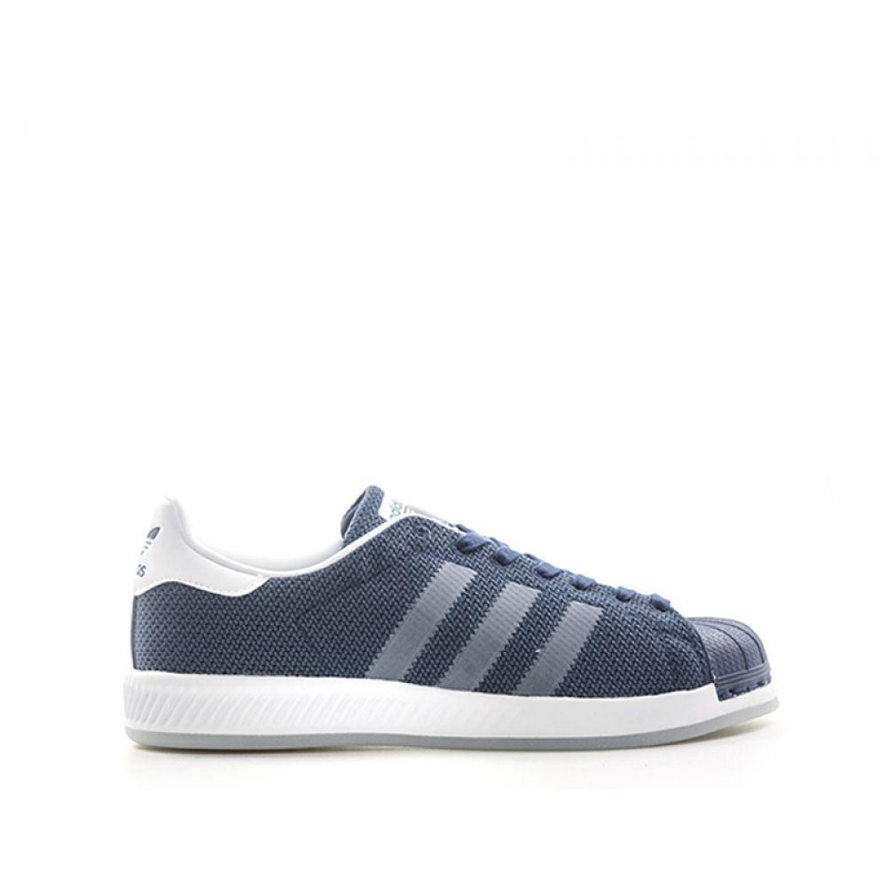ADIDAS SUPERSTAR BOUNCE Sneaker uomo blu in tessuto
