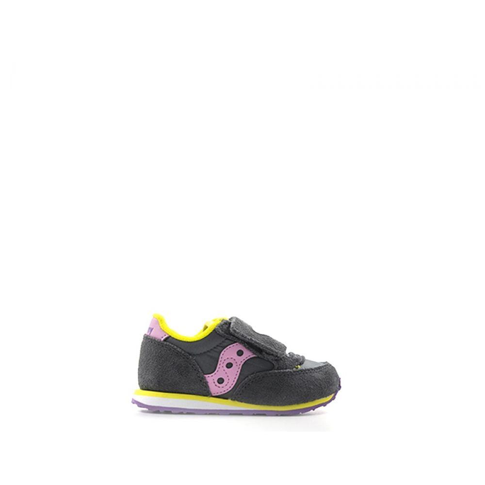 0c9f208668 SAUCONY JAZZ Sneaker bimba grigia in suede tessuto