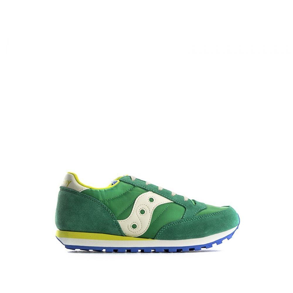 SAUCONY JAZZ ORIGINAL Sneaker ragazzo verde suede