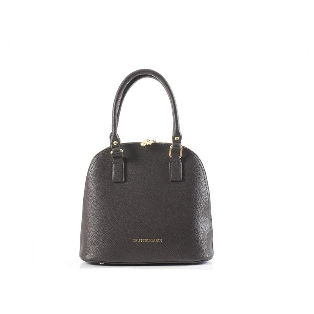 TRUTRUSSARDI Borsa a mano marrone in pelle 775472f1e5c