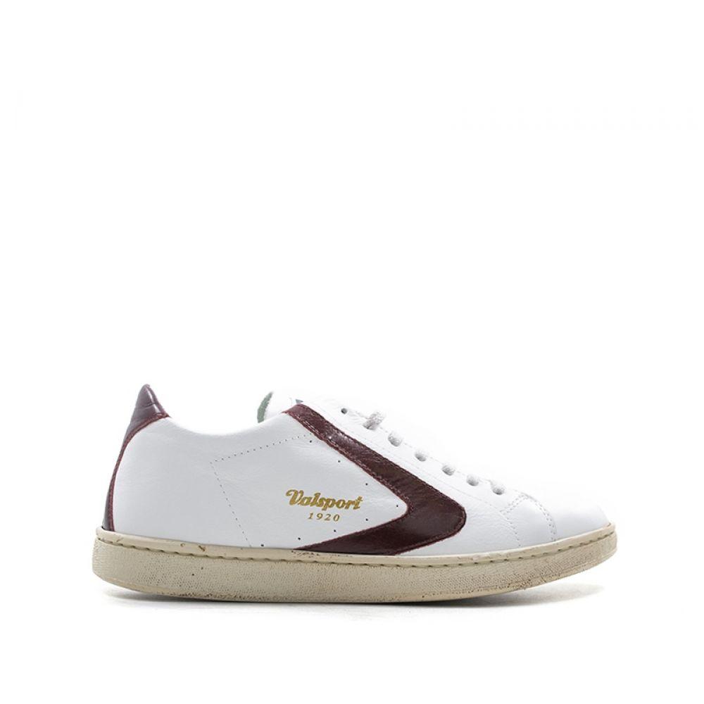 newest 1880d 49190 VALSPORT Sneaker uomo bianca bordeaux in pelle