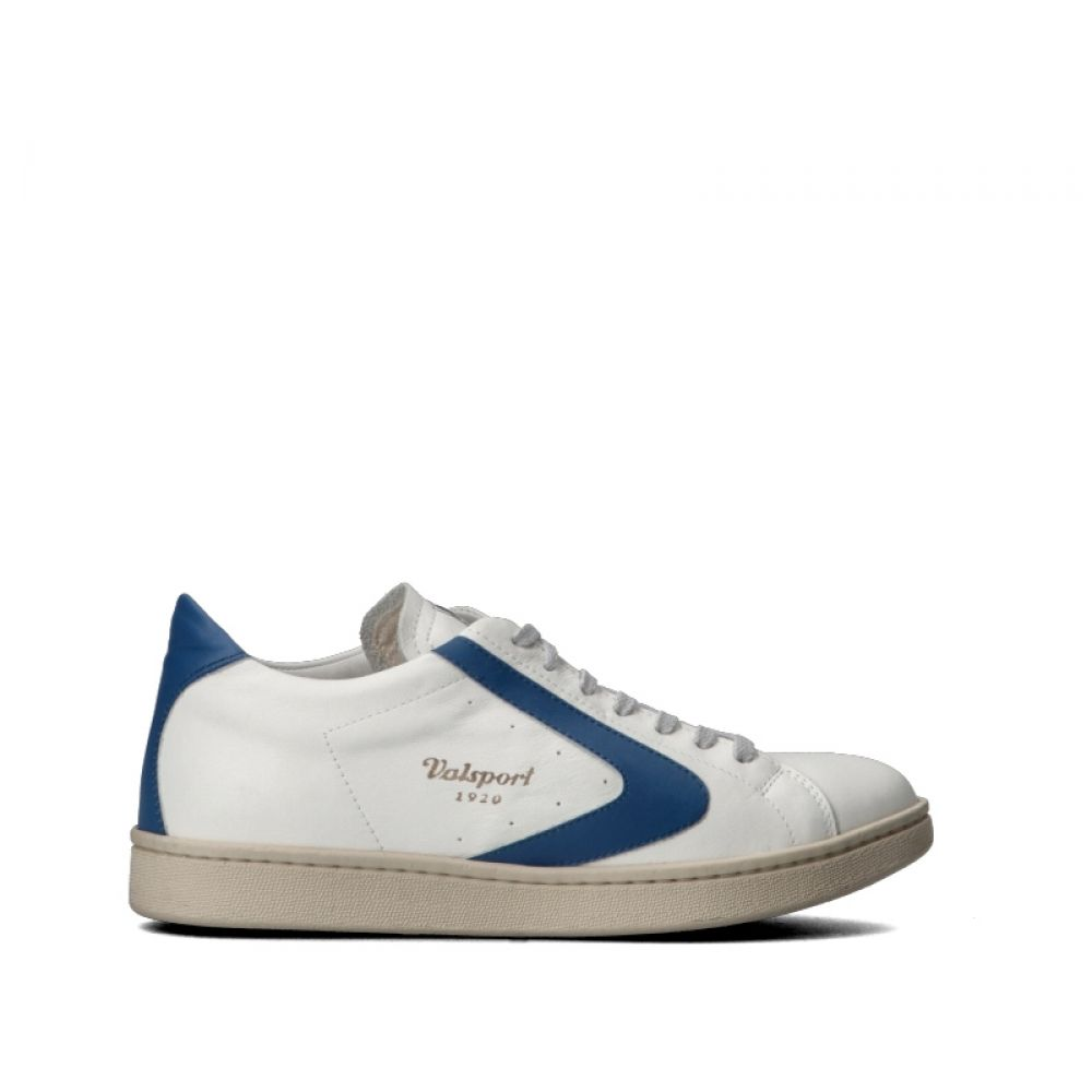huge selection of 7f660 0c4f4 VALSPORT Sneaker uomo bianca/blu in pelle