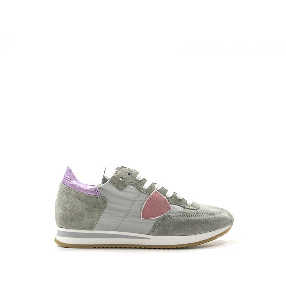 28cc065bb5 PHILIPPE MODEL TROPEZ Sneaker donna grigia/rosa tessuto
