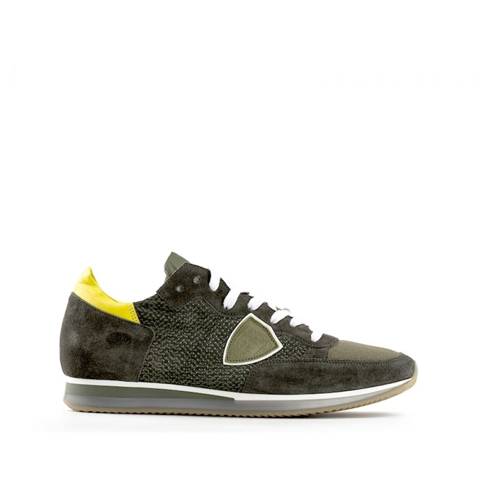 PHILIPPE MODEL TROPEZ PERFORE Sneaker uomo verde suede ... 49a05f472bb