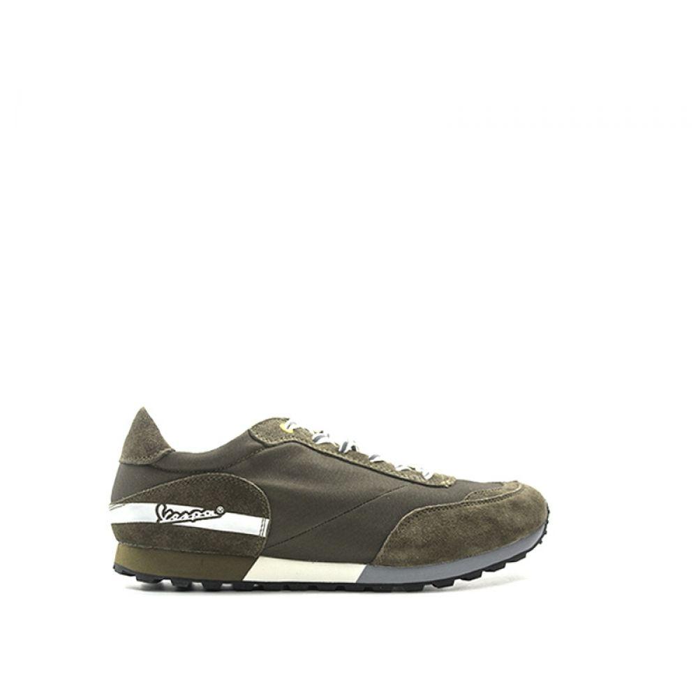 d8a14e2b54 VESPA Sneakers uomo verde scamosciato e tessuto