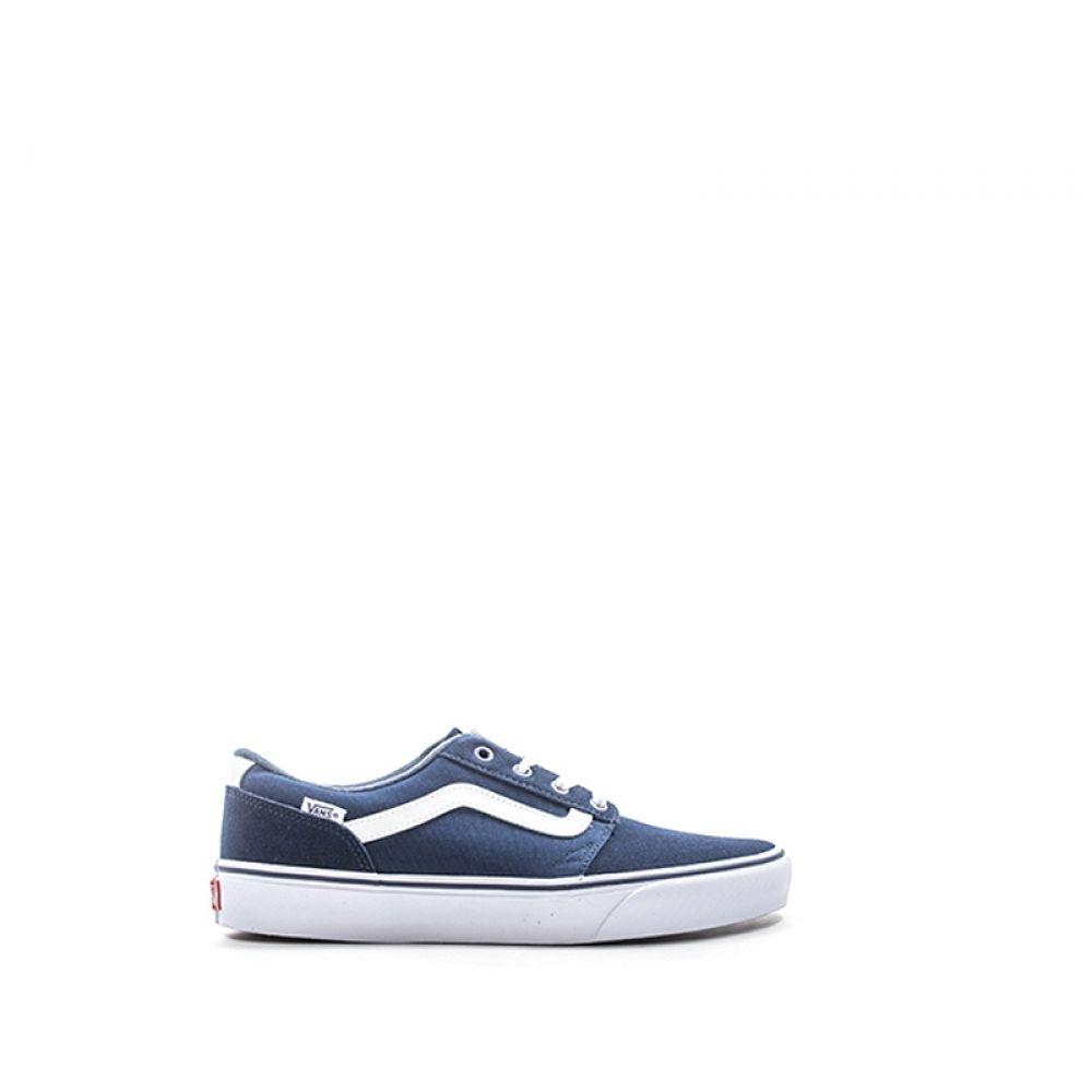 VANS CHAPMAN STRIPE Sneaker uomo blu in suede e tessuto 046d6fc9a5f