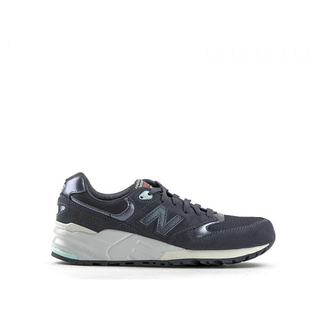 check out 07b3d 5851f NEW BALANCE 999 Sneaker donna blu in suede e tessuto