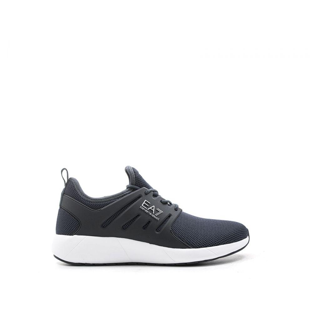 EMPORIO ARMANI Sneaker uomo grigio tessuto  0e7c1abdfe0
