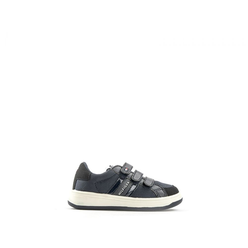 separation shoes bf494 b592a TOMMY HILFIGER Sneaker bambino blu in tessuto strappi