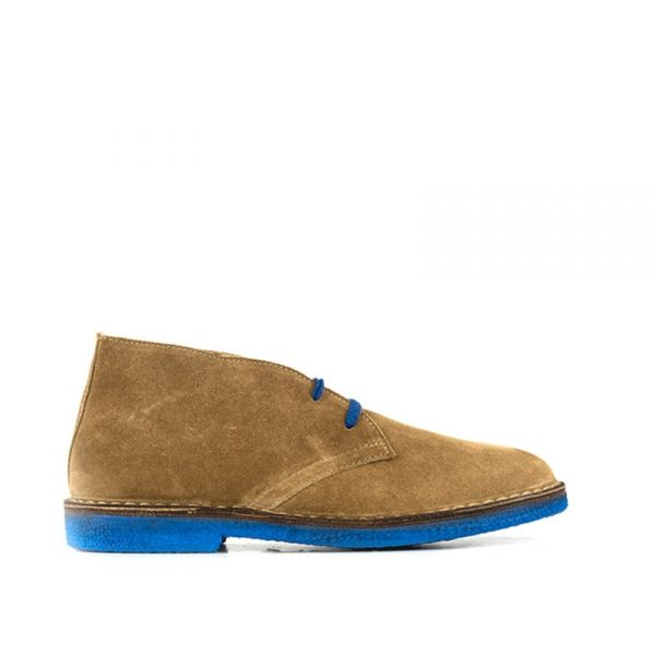 WALLY WALKER Stivaletto uomo beige in suede