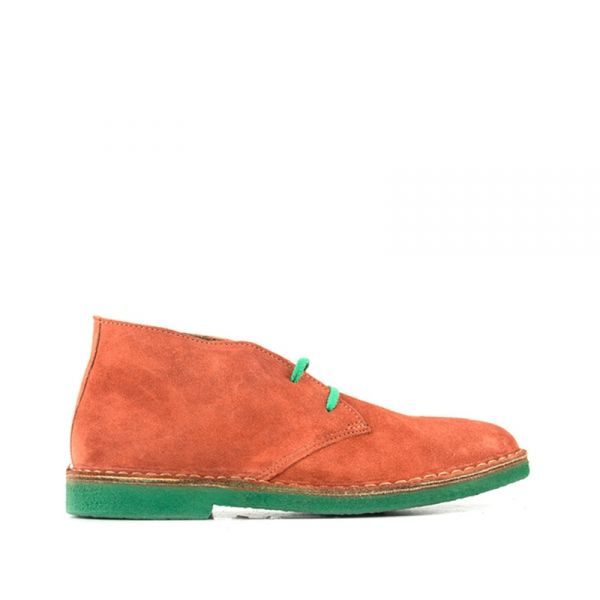 WALLY WALKER Clark uomo arancio in suede