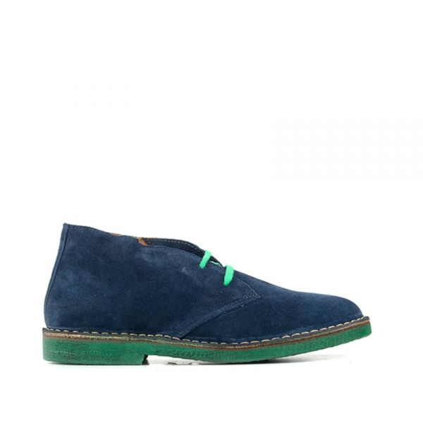 WALLY WALKER Clark uomo blu in suede