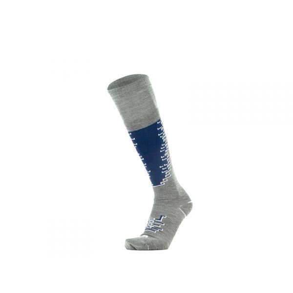 GM Calzino unisex grigio/blu lungo